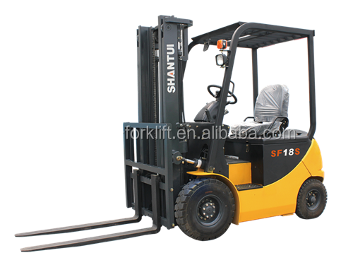 Shantui 1.8 ton electric forklift truck with paper roll clamp