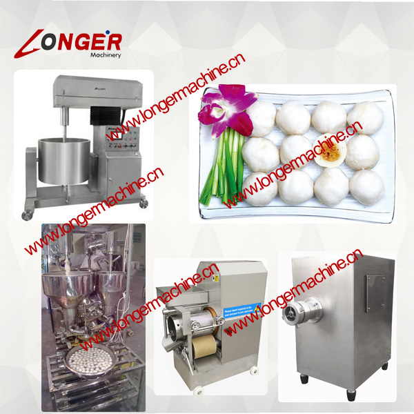 Boiled Beef Ball Product Line|Fish Ball Processing Machinery