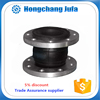 acid resistatnt pipeline flexible expansion rubber bellow flange joint