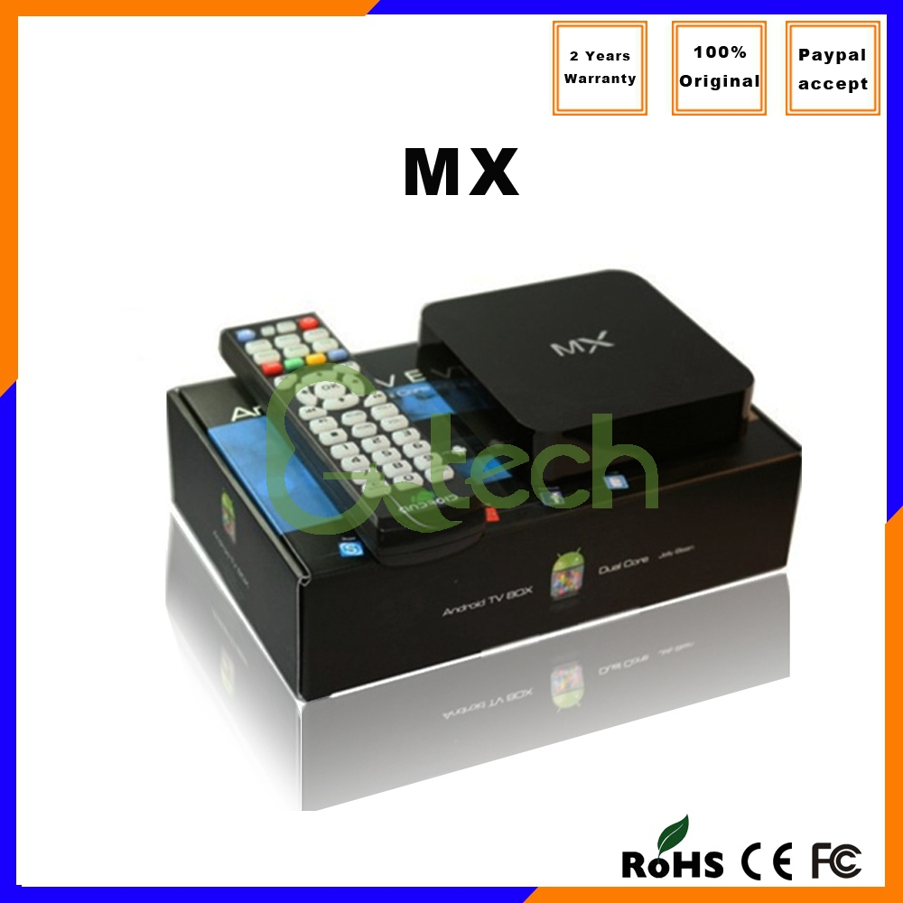 Factory direct wifi Dual core Amlogic 8726 MX box RAM 1G ROM 8G Android4.2 XBMC IPTV MX orton hd x403p set top box