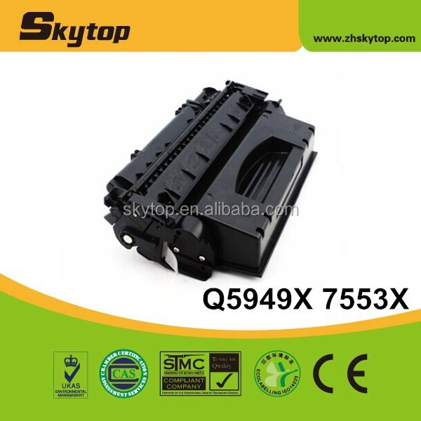 100% HOT Q5949 X / Q7553 X toner cartridge for HP LaserJet 1160/1320/3390/3392; for Canon LBP-3300/3360
