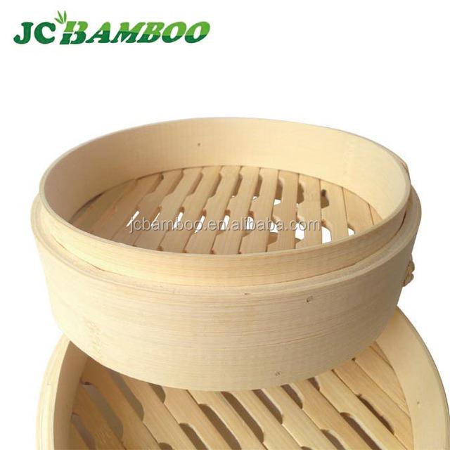 Natural bamboo steamer cheap dinner set