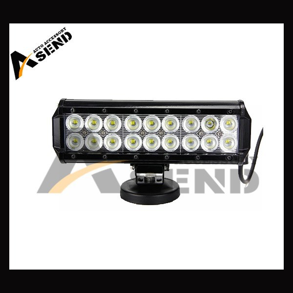 cr ee 54w led light bar double row ,12v/24v flood/spot, for truck jeep RV SUV ATV offroad boat