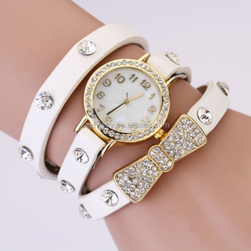 2016 Girl Latest Hand Watch, China Replica Watches, Womens Jewelry Crystal Watch