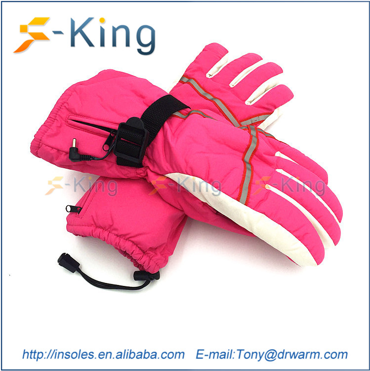 Dr.Warm winter skating battery rechargeable electric heated gloves