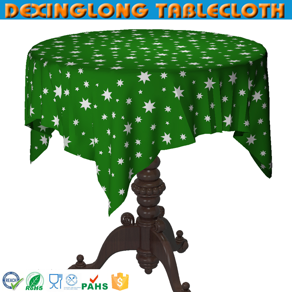 Christmas Plastic round table cloth Rolls Factory Party Decoration