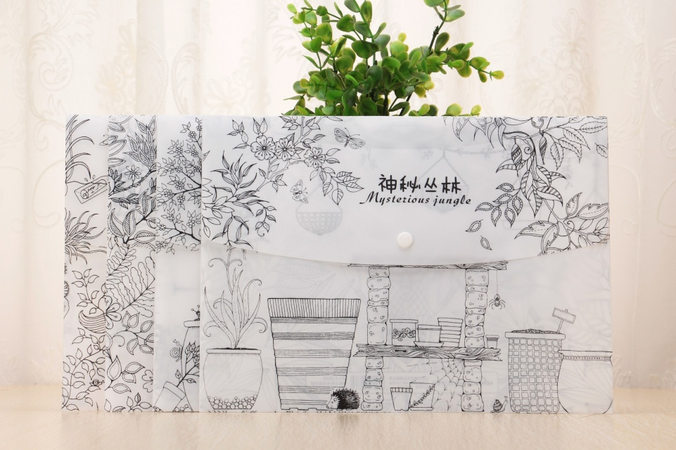 Hot sales plastic envelope file folder with printing