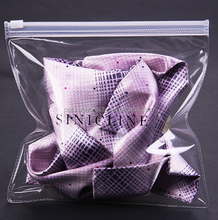 Non-toxic odorless clear transparent PVC slider zipper bag with custom logo