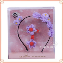 Fun unique selling purple chiffon ribbon nice hair bands