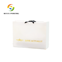 Retail top grade gold foil paper shopping bag
