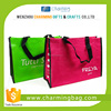 customized green pp woven bag shopping tote bag