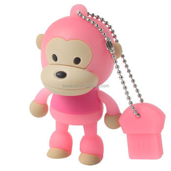 Tomax factory price pink moneky design usb flash drives bulk cheap