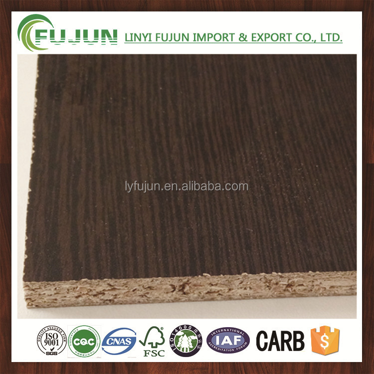 dark cherry wood grain melamine laminated particle board 17mm