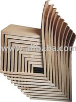 Stakable timber dinning chair