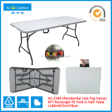 6FT HDPE Plastic Folding Balcony Table,Blow Mold Outdoor Picnic Folding Table