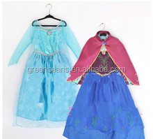 Wholesle instock fast delivery frozen dress movie anna cosplay costume dress winter frozen anna cosplay dress