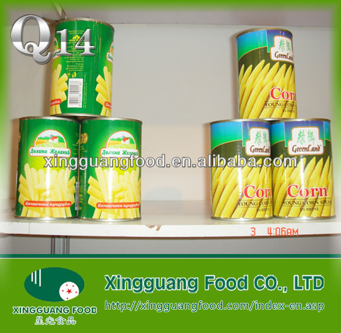 More specifications of the packaging baby corn oil in can