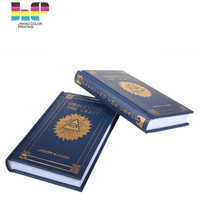 Shenzhen factory supply Holy coloruring hard cover quran book stand printing