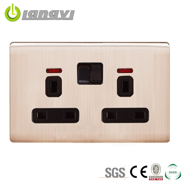 Switching Power Supplies Save Power Electrical Wall Socket With Neon