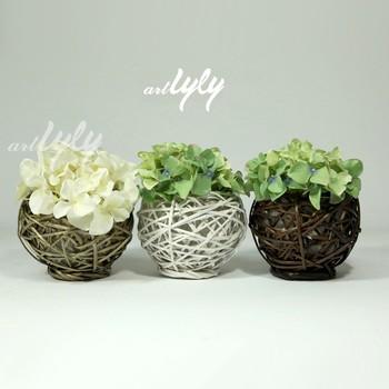 Wholesale round fancy decorative wicker flower pots on for Fancy flower pots