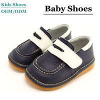 OEM/ODM brand toddlers non skid shoes boys pig skin leather shoes