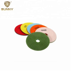 China supplier 3 inch 4 inch diamond polishing pad for stone granite