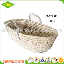 Natural material fruit basket maize baby moses basket high quality with handles