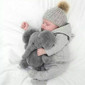 Imitational stuffed plush elephant shape baby cushion