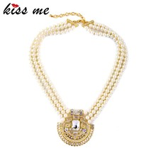 Wholesale Latest Designs Beads Necklaces Women Crystal Wedding Necklace