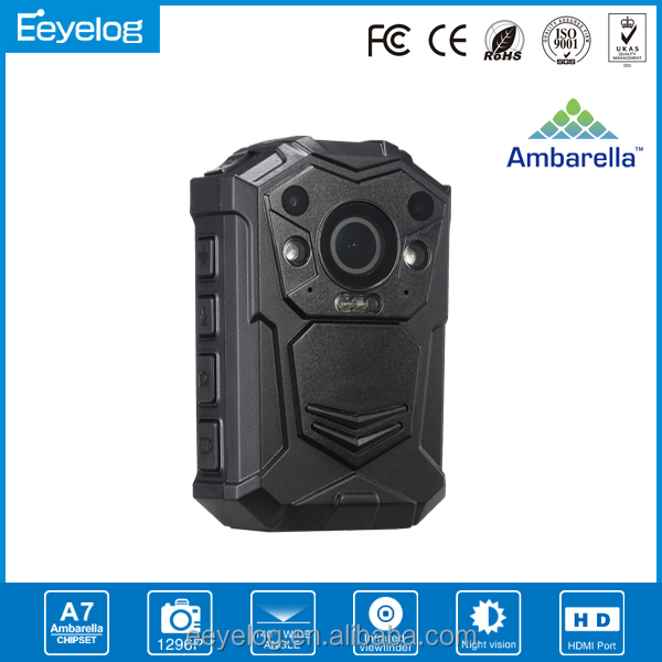 A7 1296P night vision GPS location body cameras for law enforcement