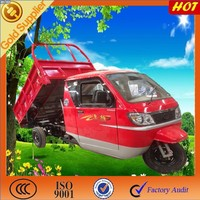 cargo tricycle with cabin/3 wheel van truck with cabin/hydraulic lifter adult tricycles