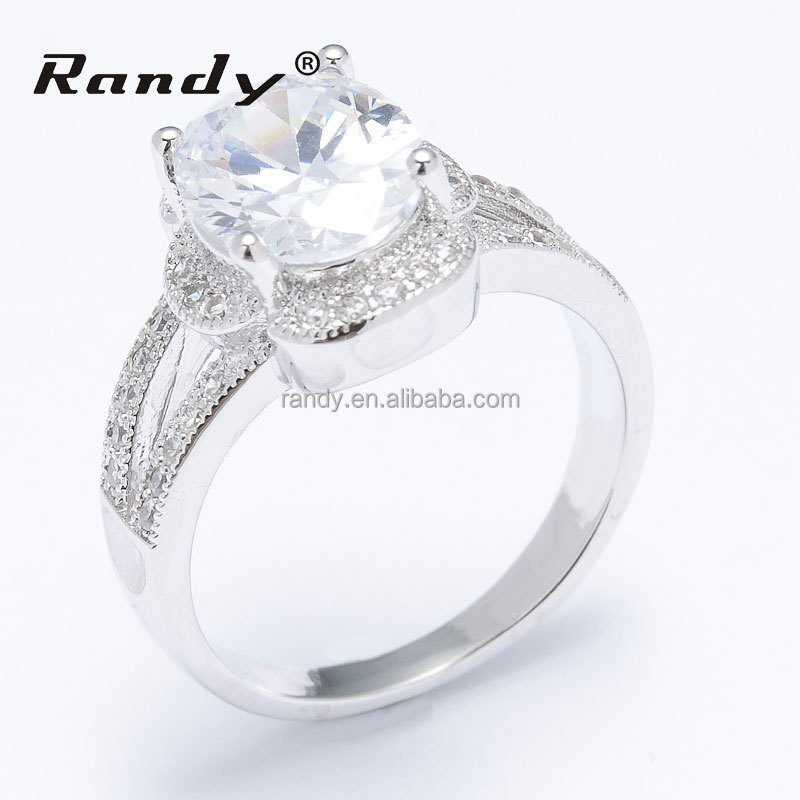 Latest Silver Plating Round Zircon Finger Design For Gay Men Ring
