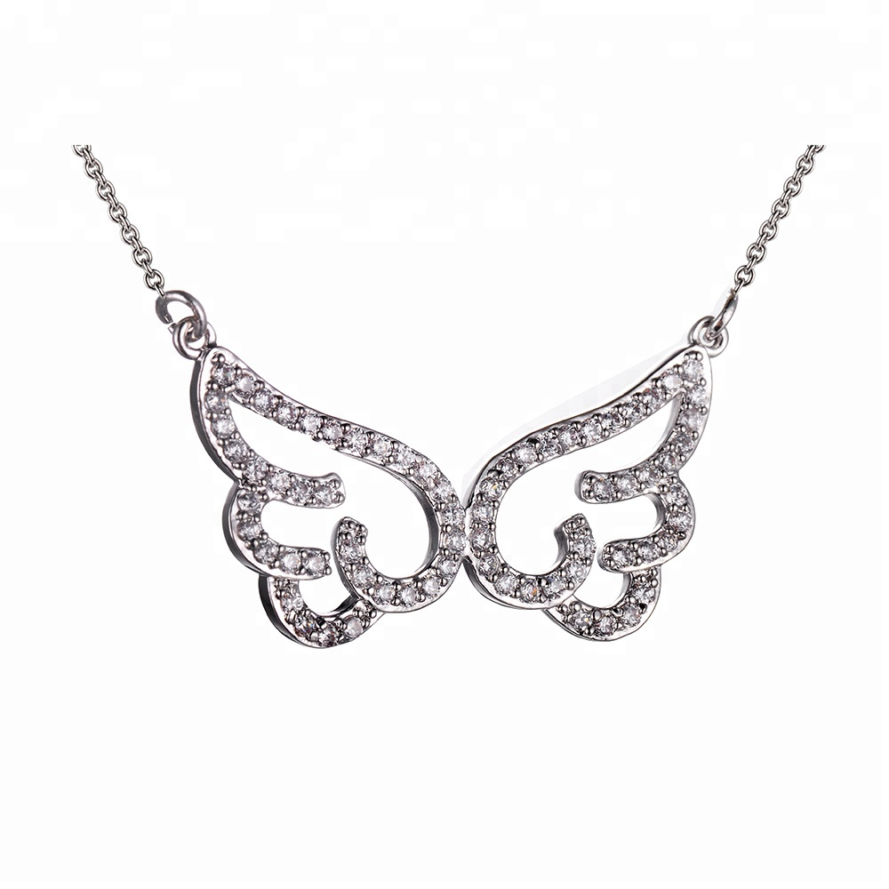 Fashion jewelry necklace long white gold necklace