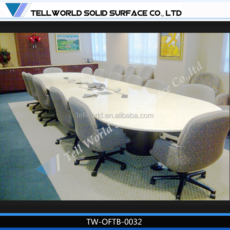 Fantastic! Artificial marble top luxury confrence table modern meeting table