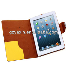 for ipad cover skin stand case smart cover,many colors custom for ipad 2/3/4 tablet case
