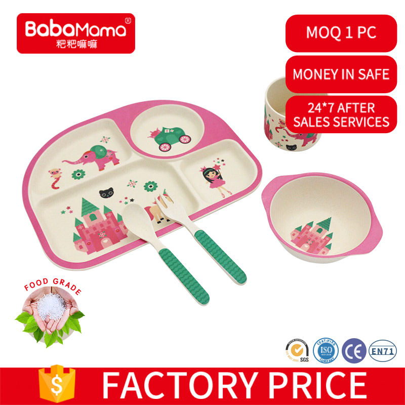 Wholesale manufactorer cheap price for promotion Bamboo feeding child tableware