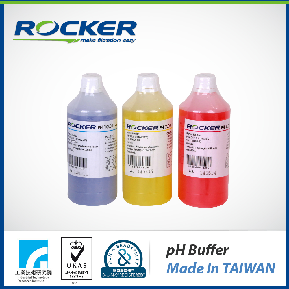 Rocker Scientific alkaline solutions pH4.01/pH7.0/pH10.01 pH buffer solution
