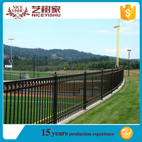 European style of metal powder coated fence/Alibaba best design strong quality iron automatic fence