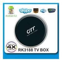 New quad core RK3188 Android tv box, best android tv box,Support miracast and root access Android smart tv box