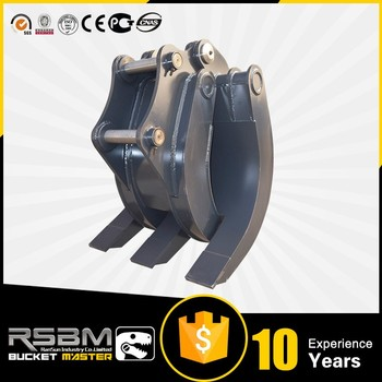 Log manual grab grapple for excavator for sale