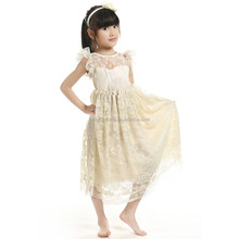 ivory lace girls party dresses kids wedding dress new model girl dress