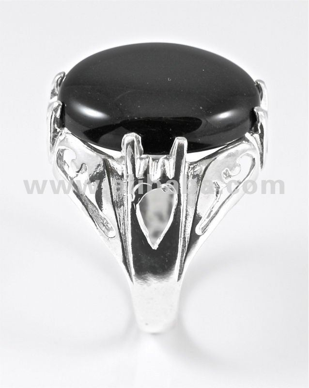Onyx Cocktail Ring in 925 Sterling Silver