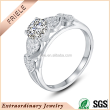Rhodium plated 925 silver promise heart ring fashion jewelry wholesale