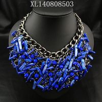 multiple metal chains layered 2014 new fashion brief necklace