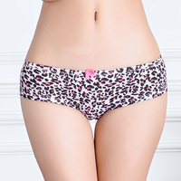 Tiger stripes sexy printed cotton underwear for girls factory price wholesale stock panties for young girl