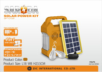 4V 6000mah portable emergency home lighting solar system battery kit with radio music player
