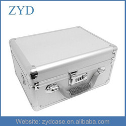 Black Silver Lockable Camera Flight Briefcase Small Aluminum Tool Case ZYD-HZ90903