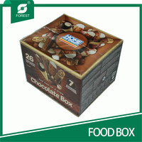 CUBE SHAPE CORRUGATED FOOD BOXES FOR DELICIOUS CHOCOLATES