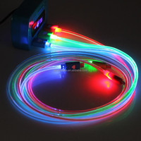 LED Light Micro USB Charging Data Sync Cable for HTC Samsung Galaxy S3 S4 S5