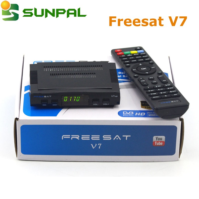 By DHL mini satellite tv receiver V7 set top box HD digital TV decoder FTA Freesat V7 HD Shenzhen factory Wholesaler